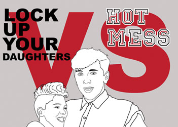 Nights: Lock Up Your Daughters V Hott Mess in Edinburgh